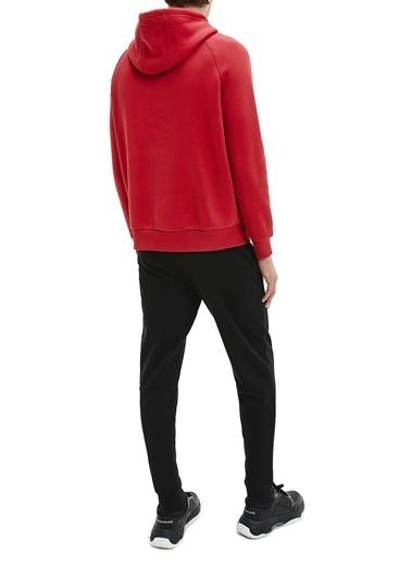 Calvin Klein  % 100 Pamuklu Regular Fit Kapüşonlu Sweat Erkek Sweat K10K106473 Xk6 Kırmızı